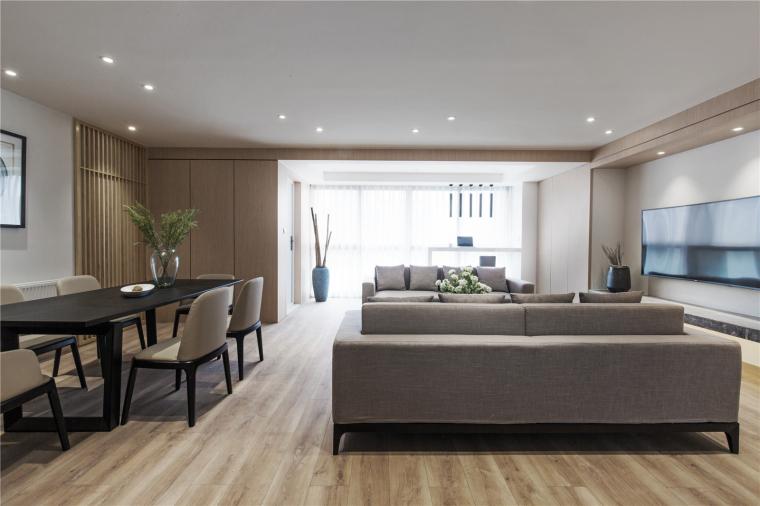 贤二设计   150平三居室现代简约风格,让你感觉清爽舒适!