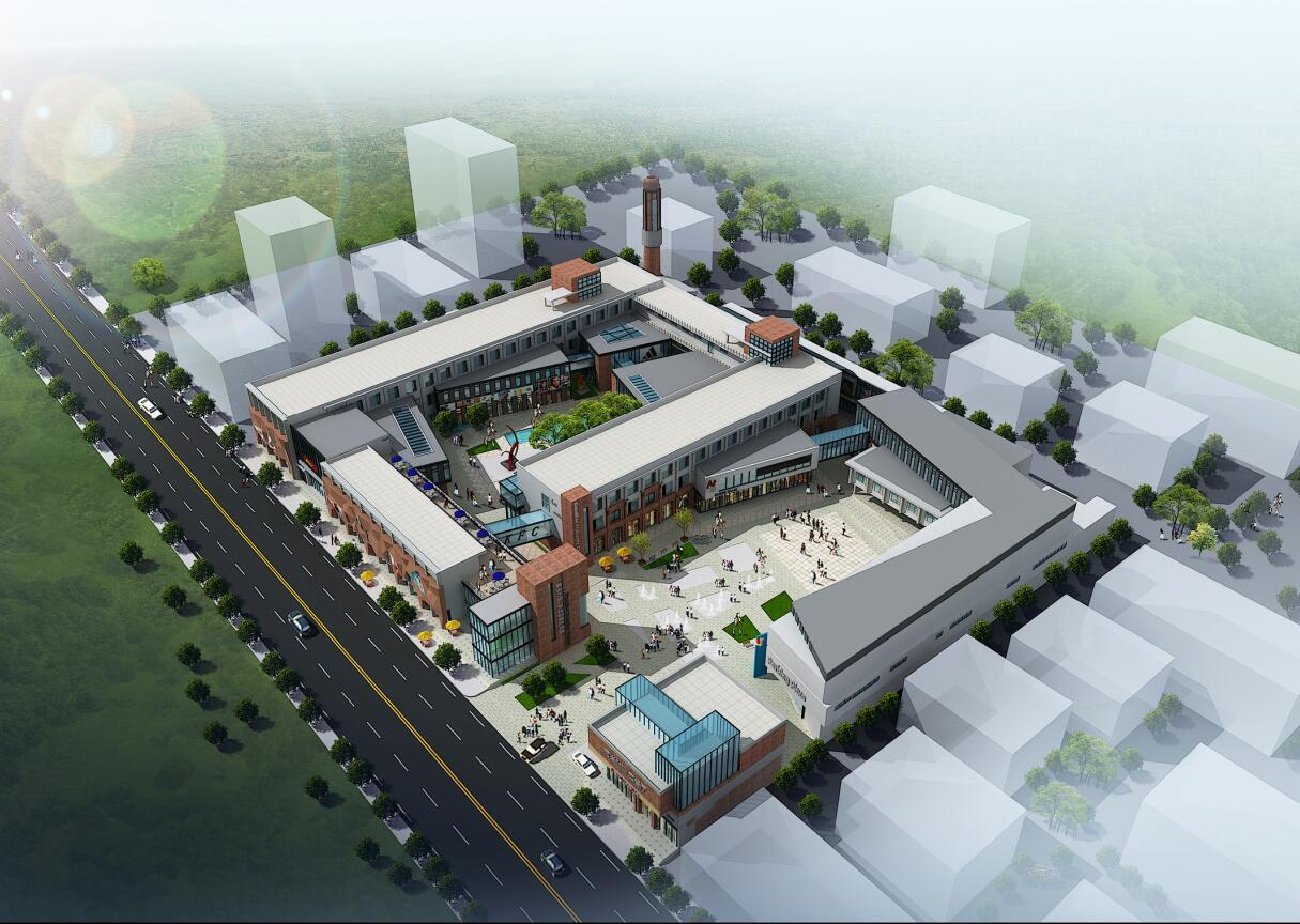 [山东]现代总部产业园方案办公楼资料设计及房子建筑设计单体企业(ppt风格规划与装修文本图片