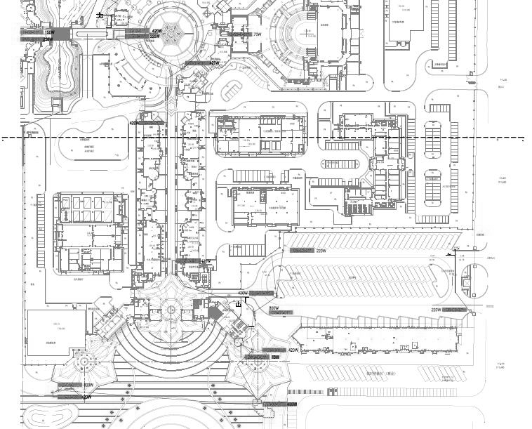 黑龙江大型主题乐园景观电气施工图