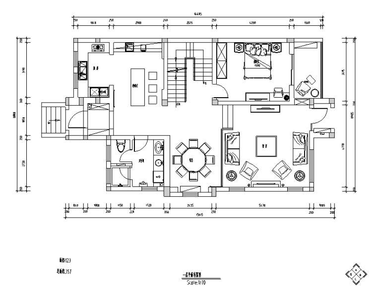 [江苏]罗托鲁拉小镇317平米住宅设计施工图(附效果图)