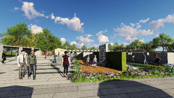 [北京]国际乡村民宿博览会策划方案(厂房改造,生态)A-2 二维码场地透视图