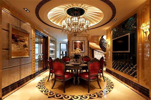 西安楼观古镇250平欧式风格别墅装修案例效果图
