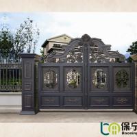 河南邓州保宁铝艺大门表面精致光滑不生锈,厂家直销