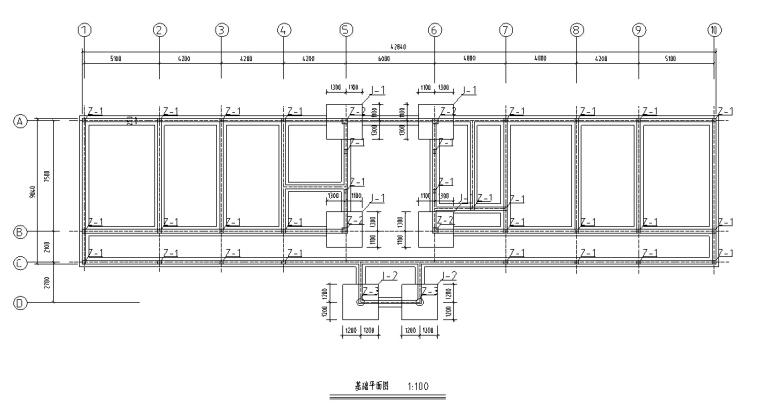 5套商务办公楼建筑设计施工图CAD-多层办公楼建筑设计平面图