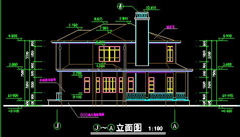 小别墅平立剖图
