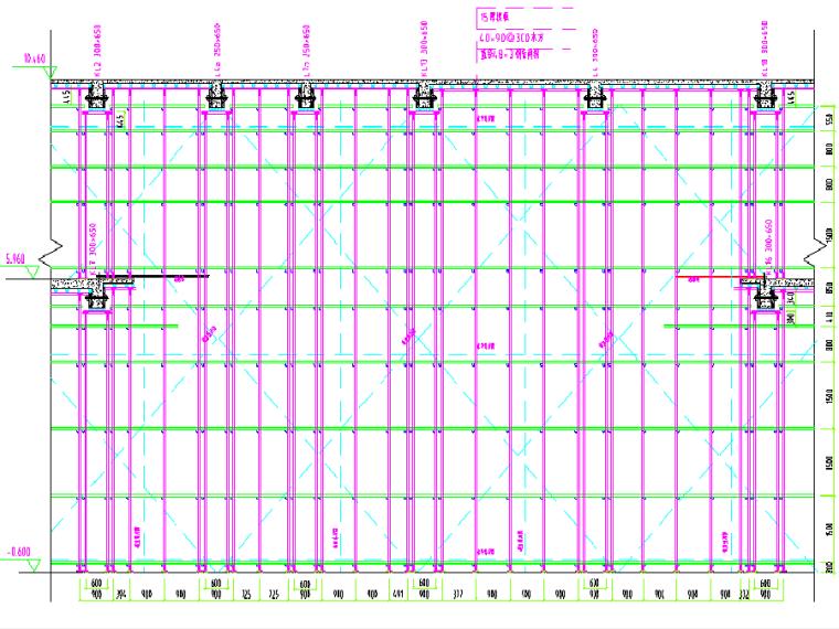 [佛山]框架剪力墙结构普通住宅及地下车库高支模、超重梁施工图纸