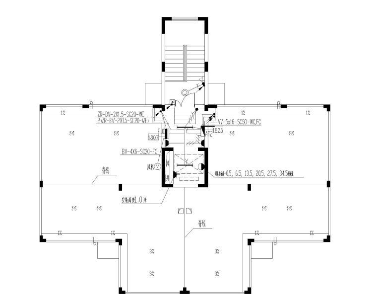 11+1层住宅电气(含照明、防雷接地、消防、电话、电视、宽带及可视对讲系统)