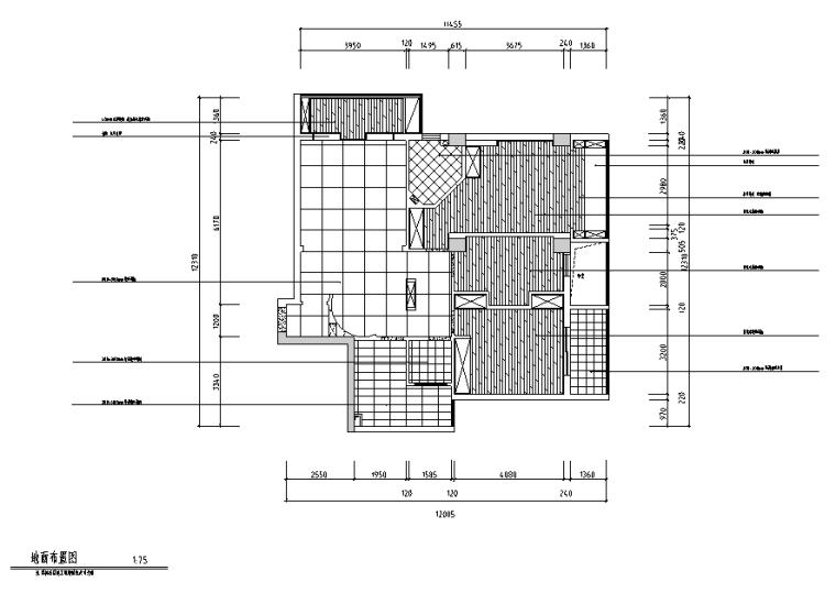 [福建]都市后花园现代中式三居室设计施工图(附效果图)