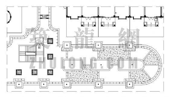 居住区铺装平面图(30)