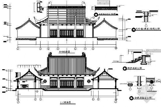 某财神殿建筑方案图-2
