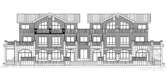 某三层欧式联排住宅建筑施工图