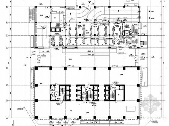 [广东]33层行政办公综合楼暖通空调通风排烟系统设计施工图(大院作品 含人防设计)