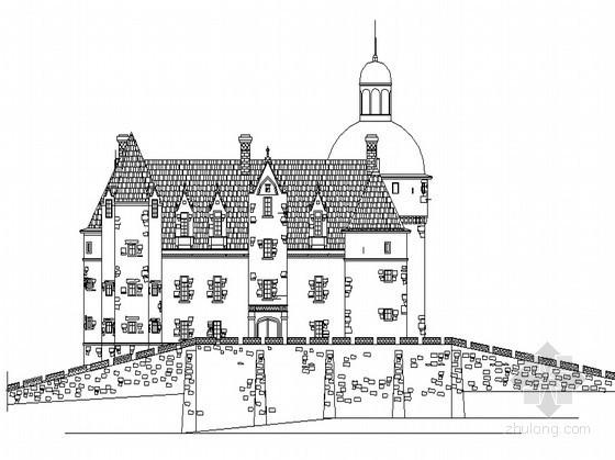 某三层古城堡建筑施工图