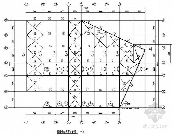 钢结构4S店结构施工图(单层局部二层)