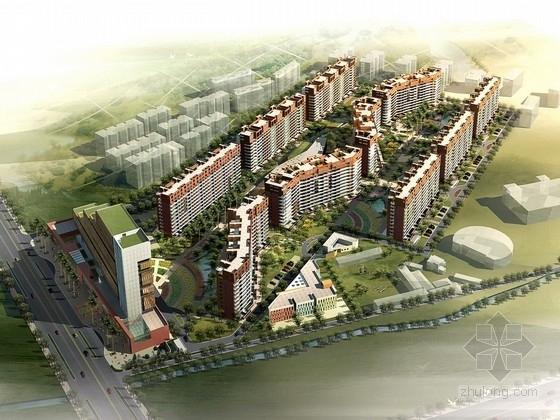 [江苏]现代风格住宅区规划及单体设计方案文本