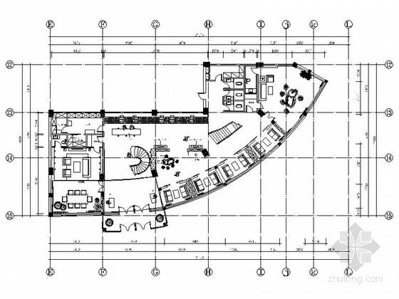 [吉林]中式古典风格文体中心茶楼室内装修图