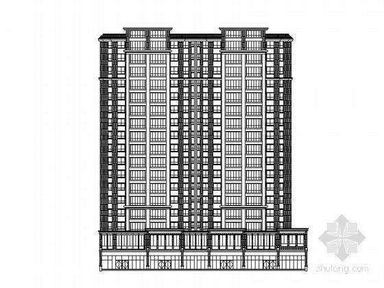 [云南]17层现代风格剪力墙商住楼建筑施工图