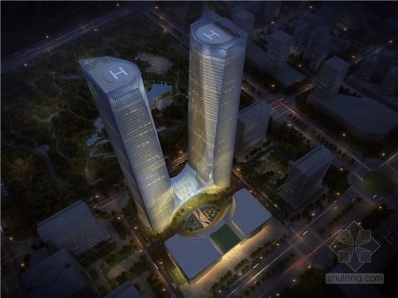 [河南]超高层地标性双塔商业综合体设计方案文本(知名地产)