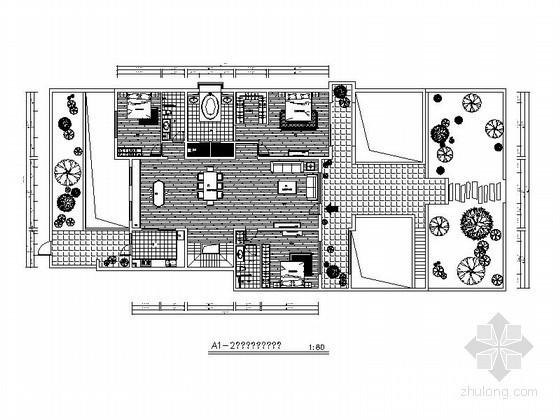 [北京]某别墅小区户型平面图