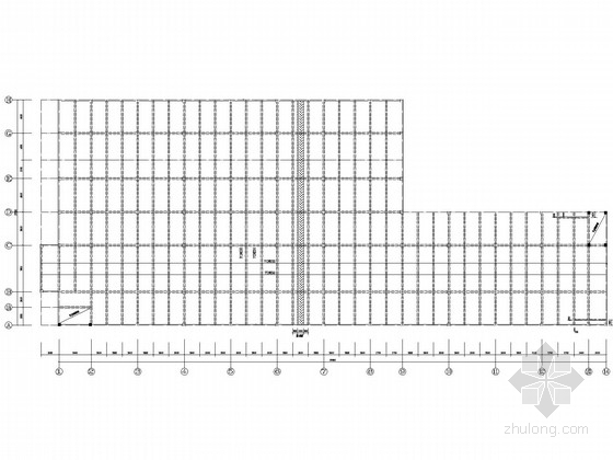 地下一层停车场框架结构施工图