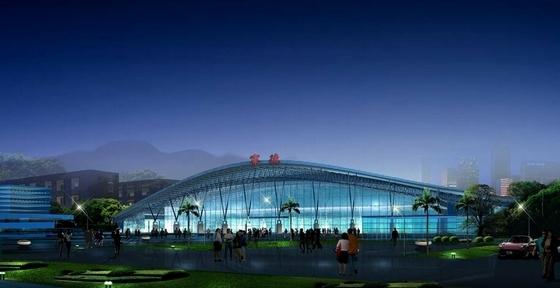 现代风格火车站片区城市设计方案效果图