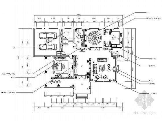 经典美式风情两层别墅设计装修施工图