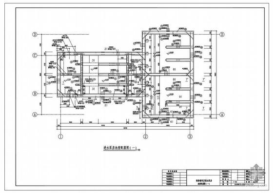 东莞某污水处理厂粗格栅间及进水泵房建筑、结构设计图
