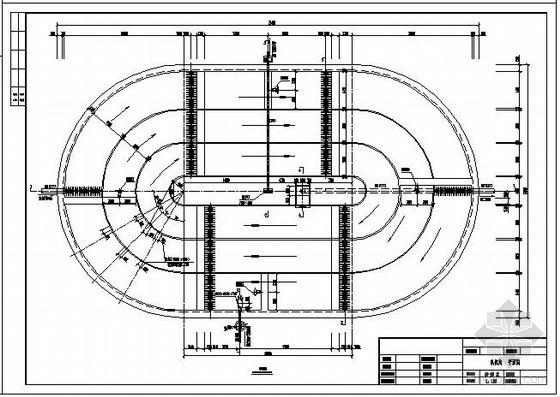 奥贝尔氧化沟平面剖面图