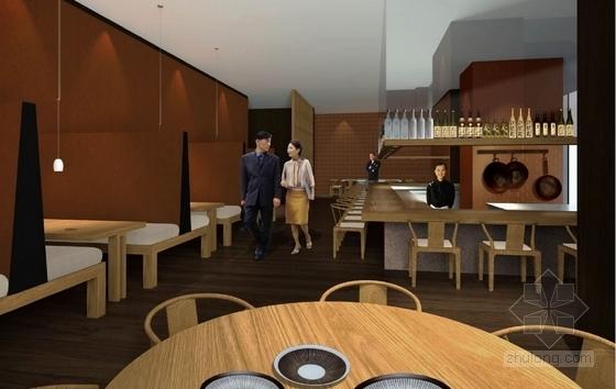 [武汉]特色奢华五星级度假酒店设计概念方案图日本餐厅效果图