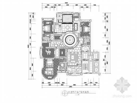 [北京]400㎡五居室台湾设计样板间装修图