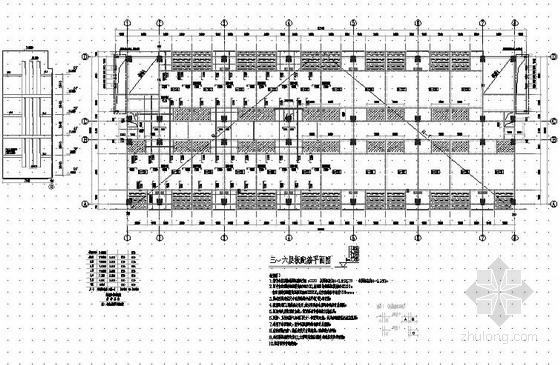 六层框架结构宿舍楼结构施工图