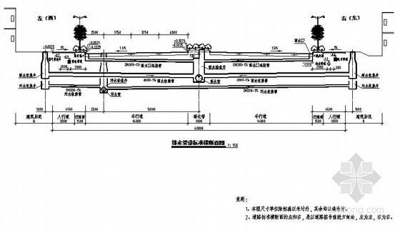 福建龙岩经济开发区高新园区某路一期排水工程设计图纸