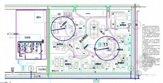 某电厂生活区施工平面布置图