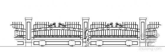 铁艺栏杆立面设计图(三)