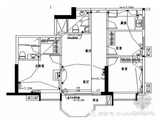 建筑家庭装修各房间开关插座布置表