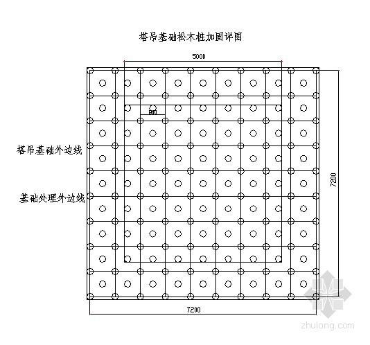塔吊、人货电梯基础处理方案(松木桩)