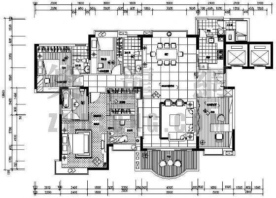 别墅室内装修施工图纸