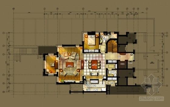 [上海]高品质现代简约风格样板房室内设计方案