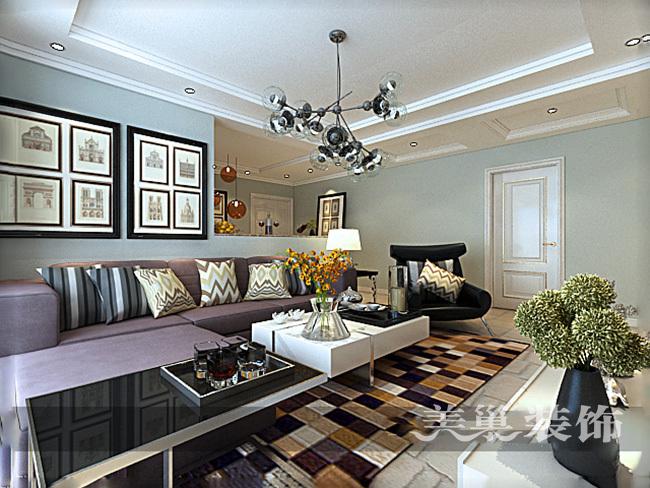 中海锦苑129平三室两厅装修效果图唯美轻美式_6