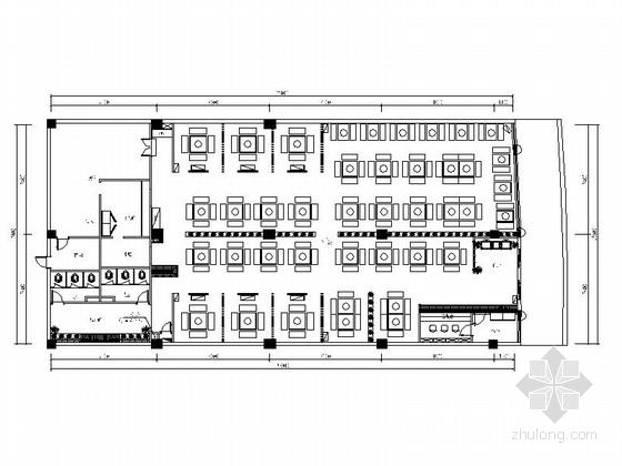 [重庆]特色连锁现代火锅店室内装修设计施工图(含效果)