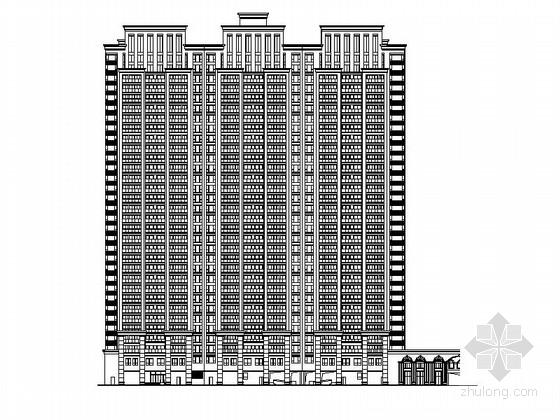 [浙江]欧式风格超高层商业建筑施工图(含效果图)