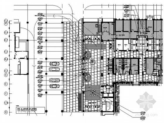 [北京]长安街现代高档星级酒店室内装修图(含方案材料)