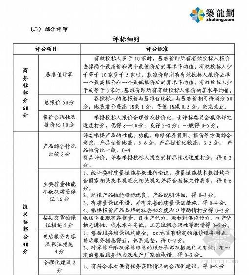 [山东]某公共住房项目瓷砖采购招标文件(2012)