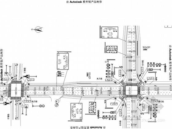 [湖南]城市高新区道路交通安全设施图纸31张(标志标线信号灯电子警察)