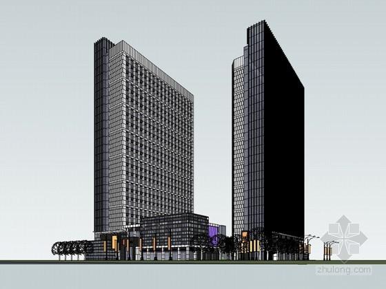 商都广场建筑SketchUp模型下载