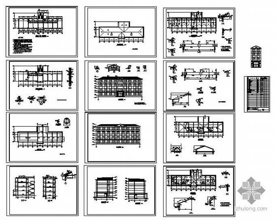 某砖混办公楼加层改造结构施工图