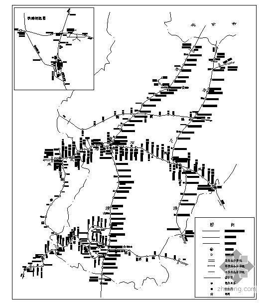 宁夏地区框架结构图资料下载-某地区供电段管辖线路示意图