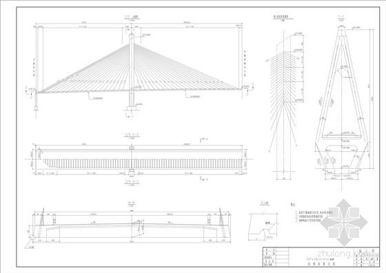 147+340+147m斜拉桥全套施工图(91张)