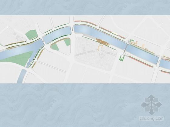 [天津]某河岸滨水区景观扩初设计方案