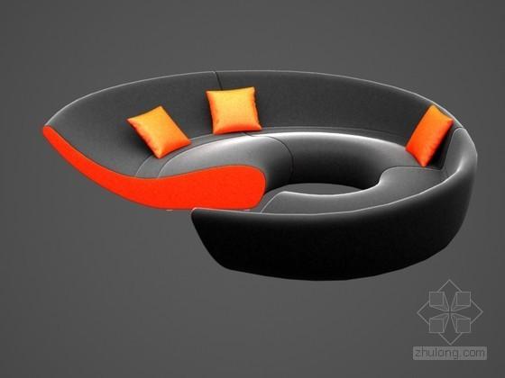 时尚弧形沙发3D模型下载